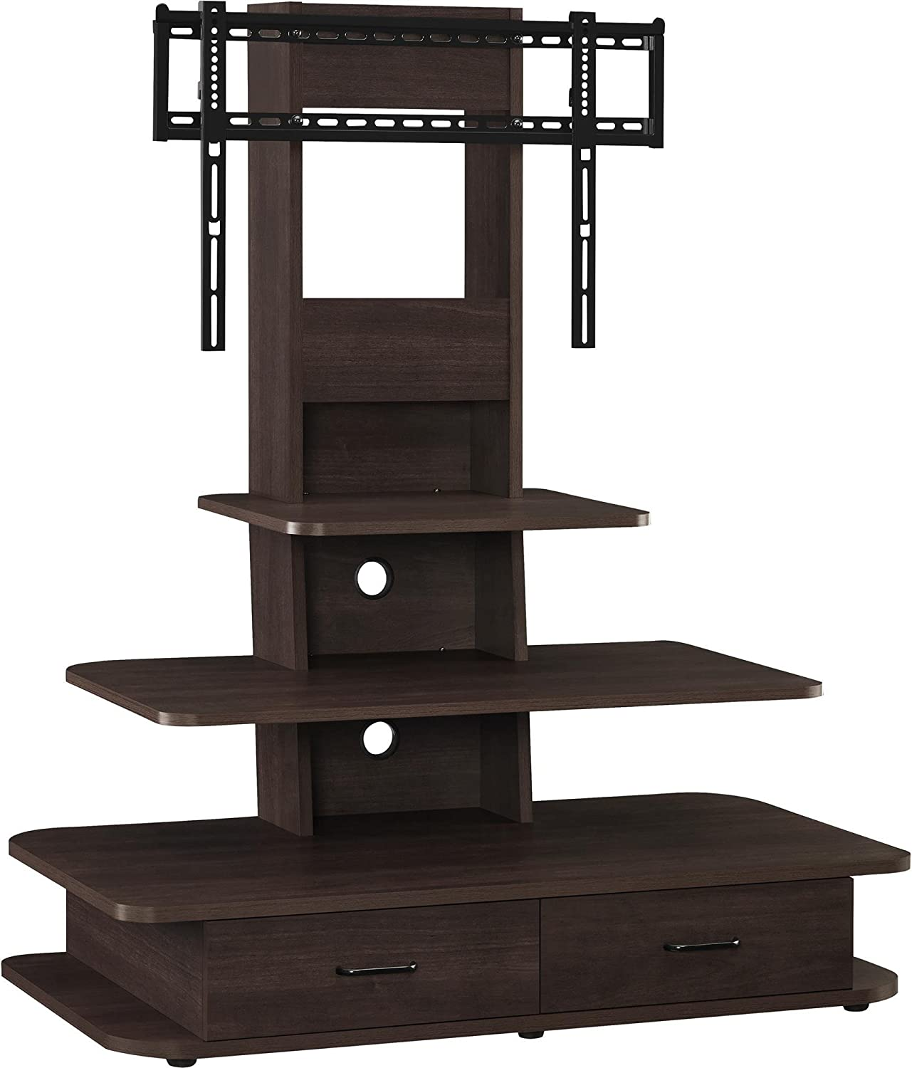 Ameriwood Home Galaxy TV Stand with Mount and Drawers for TVs up to 70  Wide, Espresso