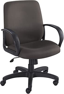 Safco Products Poise Executive Mid Back Chair, Black