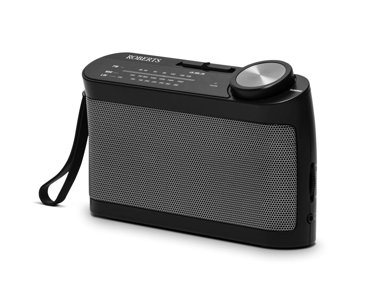 Roberts Radio R9993 Portable 3-Band LW/MW/FM Battery Radio with Headphone Socket - Black