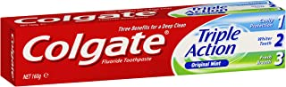 Colgate Triple Action Cavity Protection Fluoride Whitening Toothpaste Original Mint Fresh Breath 160g