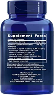 Life Extension Enhanced Super Digestive Enzymes (3 Bottles of 60 vcaps)