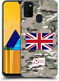 Official Support British Soldiers Multi Terrain Camo Hard Back Case Compatible for Samsung Galaxy M30s (2019)