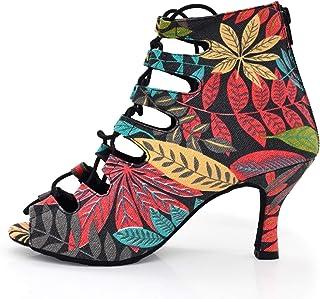 Dame High Heel Dames Beautifl Leaf Dance Boots op Christmas Party Suede Outsole Can Draag buiten en Indoor Nieuwjaar Gift