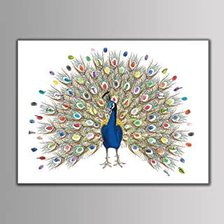 Fingerprint Tree Custom Wedding Guestbook Wedding Guestbook Poster with 6 Colors Ink (TYPE6#)