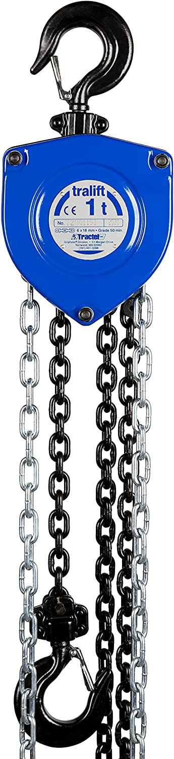 tralift Manual Chain Hoist cheap Safety and trust 1 t 2 30-ft. Lift Ch 000 lbs. with