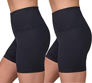 Velocity High Waisted Squat Proof Active Shorts for Women - Black 2 Pack - XL