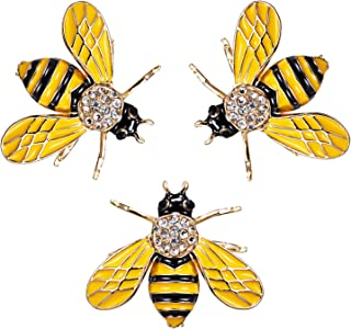 2d43f84fe RINHOO FRIENDSHIP Cute Honeybee Animal Insect Brooches Pin Colorful Crystal  Rhinestones Bee Shape Corsages Scarf Clips