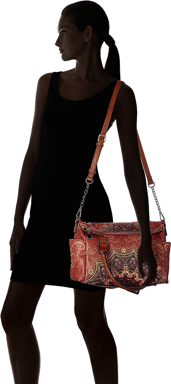Desigual Bag Tekila Sunrise Loverty Petrucho, Sac porté main Marron (Cognac)