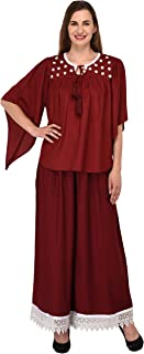 Patrorna Blended Women's Butterfly Sleeve Crop Top and Palazzo Pant Suits Set (Size XS-7XL, GR602818)