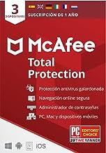 McAfee Total Protection 2021, 3 Dispositivos, 1 Año, Software Antivirus, Seguridad de Internet, Móvil,Manager de Contraseñ...