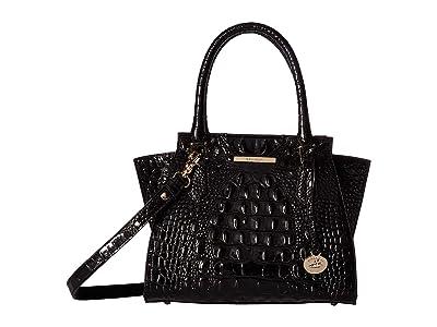 Brahmin Mini Priscilla (Black) Handbags