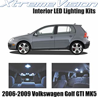 XtremeVision Interior LED for Volkswagen Golf GTI MK5 2006-2009 (11 Pieces) Cool White Interior LED Kit + Installation Tool