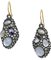 Alexis Bittar - Stone Cluster Drop Wire Earrings