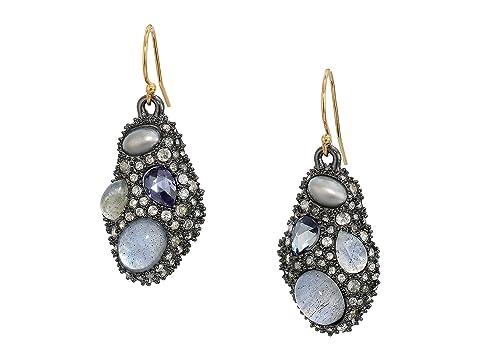 Alexis Bittar Stone Cluster Drop Wire Earrings