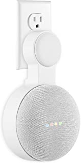 Google Home Mini Wall Mount Holder, Caremoo Space-Saving Design AC Outlet Mount, Perfect Cord Management for Google Home Mini Voice Assistant (White, 1 Pack)