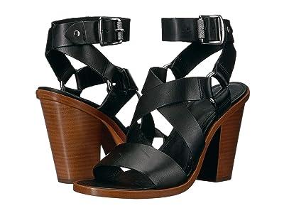 Frye Sara Harness Sandal (Black) High Heels