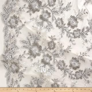 Best silver embroidered fabric Reviews