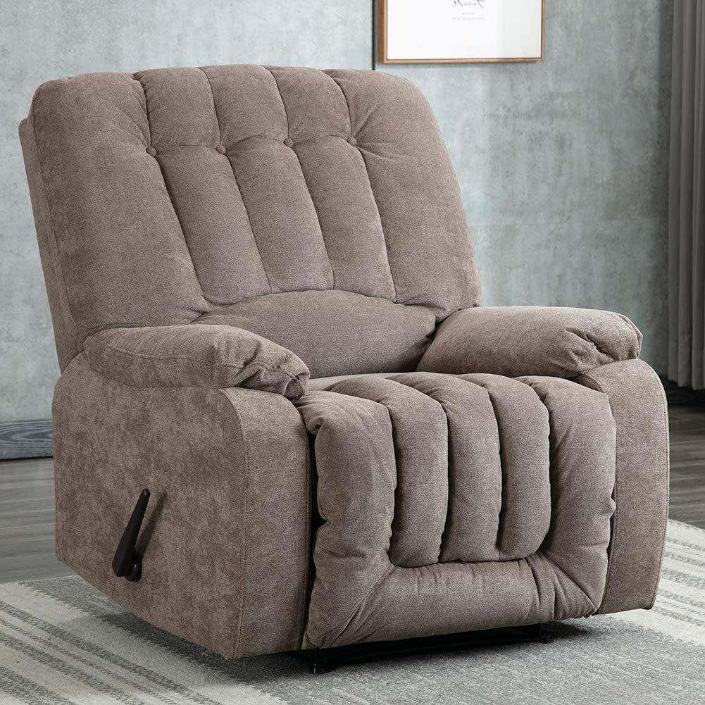 Manual Recliner Chair Overstuffed Contemporary