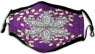 Mauve, vintage orientalisk display marockansk mellanöstern blomblad med detaljer konst, jorden gul lila vindtät ansiktsmas...