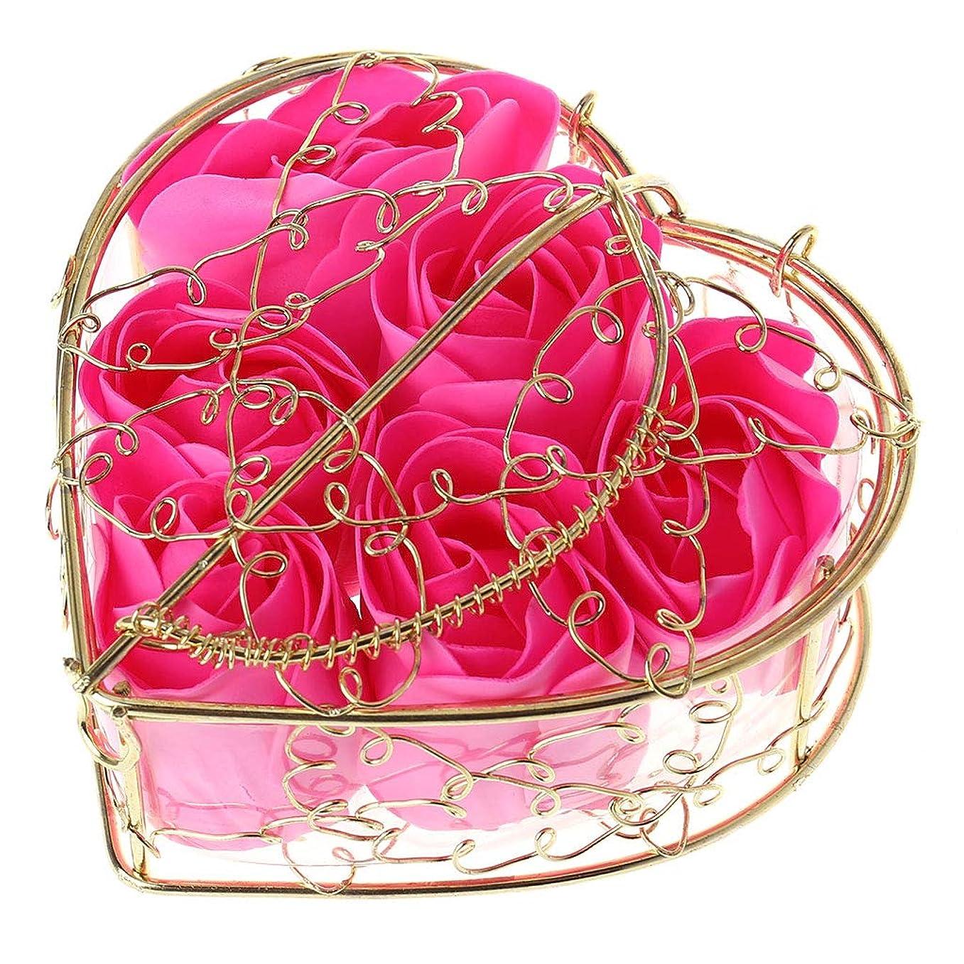 クレーン式ポスト印象派Kaman-co 6本の香りのバラの花びら、入浴ボディーソープ、ウェディングパーティーの装飾ギフト、バレンタインデーの贈り物 (HP)
