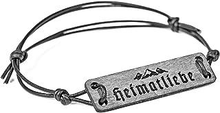 SKONIDA Trachten Armband aus Holz – Armband mit Bergmotiv – Berg Armband HEIMAT-LIEBE für Damen & Herren– in Geschenk-Box