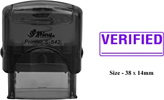 VERIFIED Rubber Stamp Clear Print For Office Use Shiny S-842 Self-Inking Stamp