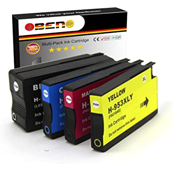 OBENO - 1 Set - 953XL 4 Pack reemplazo Compatible Cartuchos de ...
