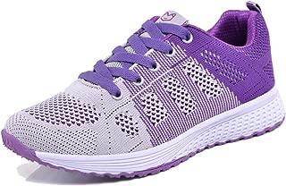 Minbei Baskets Femmes Chaussures de Running Respirantes pour Femme Athl/étiques L/ég/ères Chaussures de Sport pour Femme Noir Bleu Rose