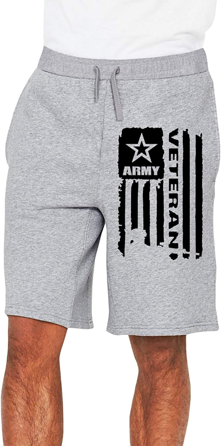 ZBBZHY Us Army Veteran5 At the price of surprise Men Loose Short Directly managed store Jersey Pants Pocke Track