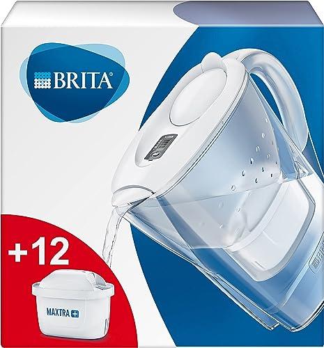 BRITA Carafe filtrante Marella blanche - 12 filtres MAXTRA+ inclus