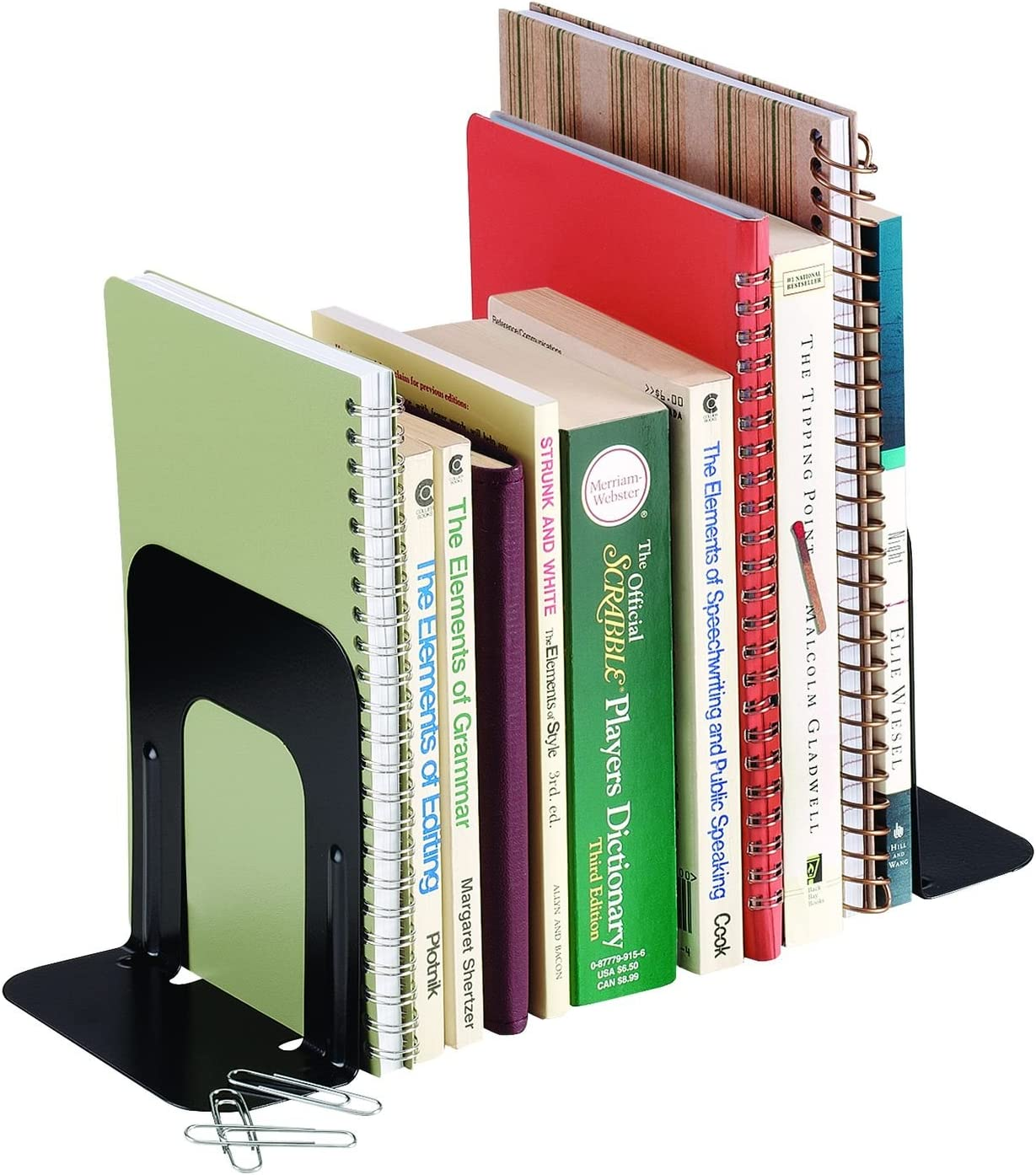 Direct sale of manufacturer Reservation STEELMASTER Economy Steel Bookends 5 Inch 1 4.69 Pair x Backs
