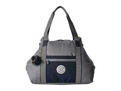 Kipling Art M Tote (Grey Weave) Tote Handbags