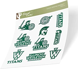 Illinois Wesleyan University IWU Titans NCAA Sticker Vinyl Decal Laptop Water Bottle Car Scrapbook (Type 2 Sheet)