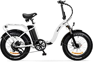 Ride Scoozy VeeGo Folding Fat Tire Electric Bicycle with a 500W Bafang Hub Motor and Heavy Duty Cargo Rack