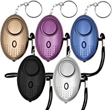 KOSIN Safe Sound Personal Alarm, 5 Pack 140DB Personal Security Alarm Keychain with LED Lights, Emergency Safety Alarm for...
