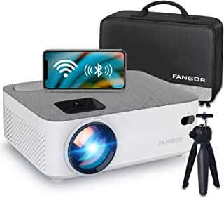 WiFi Projector Bluetooth Projector, FANGOR 5500 Lux Portable Movie Projector Full HD 1080P...