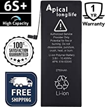 LONGLIFE 2750mAh Battery Compatible with iPhone 6s Plus, Replacement Battery with Full Set of Repair Kit Tool, Adhesive Strips, Li-Polymer, 3.8V (Batería de repuesto)