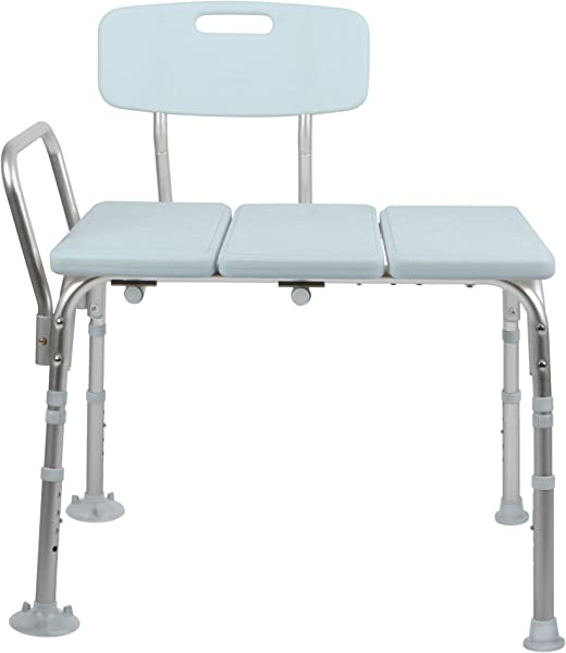 Medline Microban Medical Transfer Bench With Antimicrobial Protection For Bath Safety Shower Use And Bacterial Protection