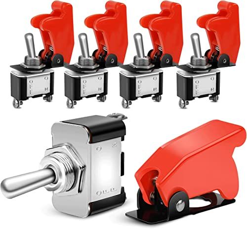 popular Nilight 90014E Heavy online Duty Rocker Toggle Switch 12V 20A Red Cover SPST ON/Off 2Pin Car Truck popular Boat-5 Pack, 2 Years Warranty sale