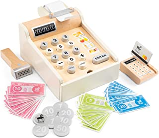 Eitech GmbH 10651 New Classic Toys registreringskassa, inklusive spelpengar, skanner och bankkort, tillbehör för inköpsaff...
