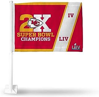 Rico Industries, NFL Kansas City Chiefs Auto Flagge, rot, mit weißem Stab, rot, 38,1 cm