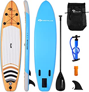 SPSUPE 11ft Stand up Paddle Board, Inflatable Surfboard with Retractable Paddle, Body Surfing Board, Pump Included, Remova...