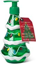 Simple Pleasures Luxury Scented Holiday Hand Soap Dispenser - Classic Refillable Xmas Tree Shaped Frosty Delight Scented Cleansing Hand Soap Pump For Bathroom Or Kitchen Countertop