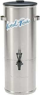 Wilbur Curtis Iced Tea Dispenser 5.0 Gallon Round Tea Dispenser - Designed to Preserve Flavor - TC-5H (Each)