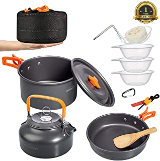 Overmont Camping Gears Cookware Set Kettle Tent Poles...