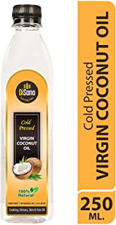 Disano Cold Press Virgin Coconut Oil Bottle, 250 ml