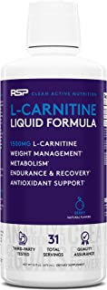 RSP Liquid L-Carnitine 1500 - Natural Weight Management and Metabolism Booster, Stimulant Free L Carnitine, Max Strength f...