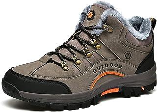 XIKONG Chaussures d'hiver chaudes doublées pour homme et femme