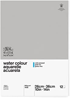 Winsor & Newton Classic Watercolor Paper Side Glued Pad, Cold Pressed 140lb, 10