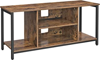 Best VASAGLE TV Stand for 50 Inches TV, TV Console Table with Storage, Entertainment Center, for Living Room, Industrial Rustic Brown ULTV39BX Review